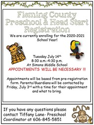 FCS Preschool Registration