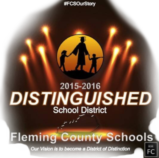 distinguished school district banner